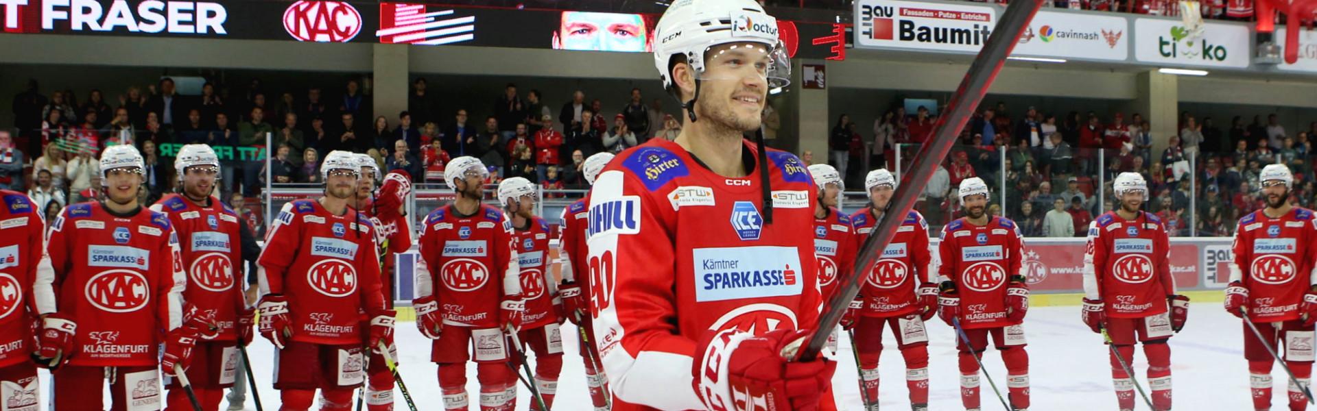 Matt Fraser (KAC) wurde zum Spieler des Abends gewählt