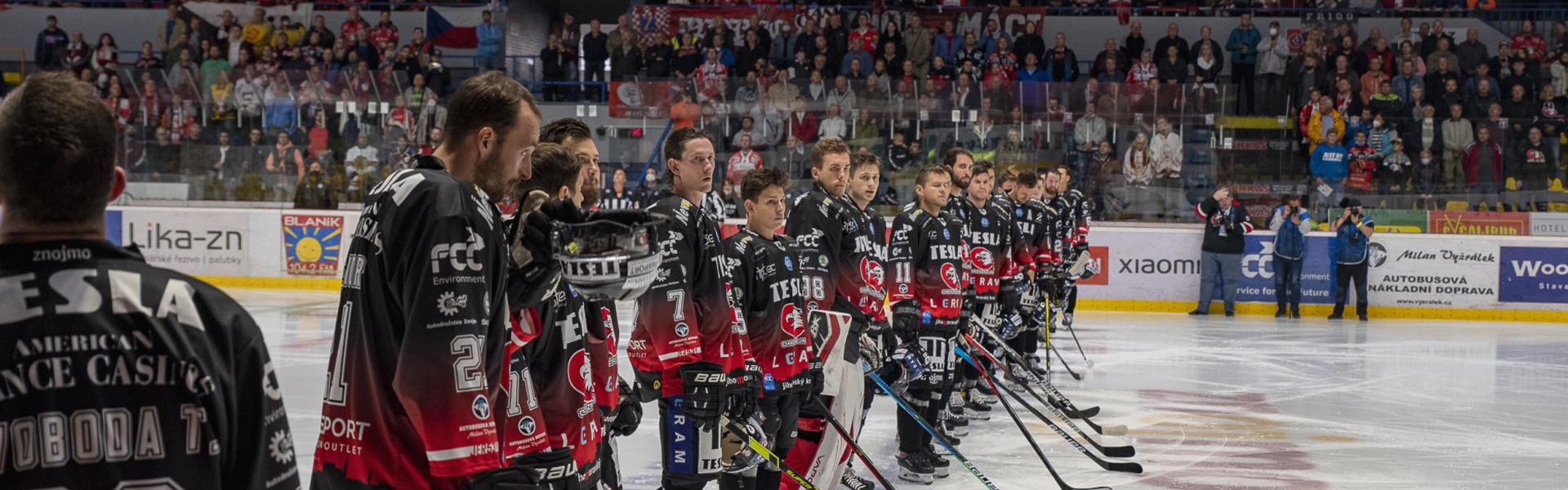 Orli Znojmos Mannschaft bei der Heimpremiere 2021