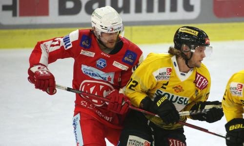 Manuel Ganahl (KAC) und Nicolai Meyer (VIC)