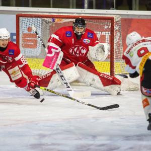 Goalie Val Usnik (KFT) verbuchte sein erstes AHL-Shutout