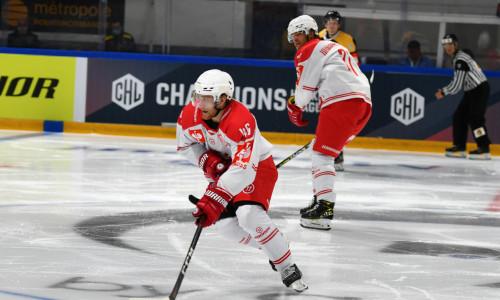 Johannes Bischofberger (KAC) und die Rotjacken jagen den fünften Sieg im fünften CHL-Spiel