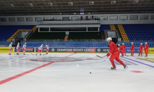 Morning Skate der Rotjacken im Palaz Sportu