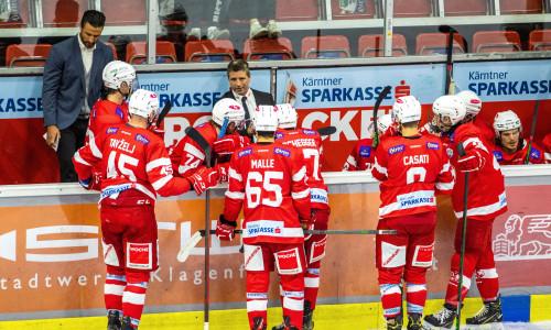 Spielerbank des EC-KAC Future Team