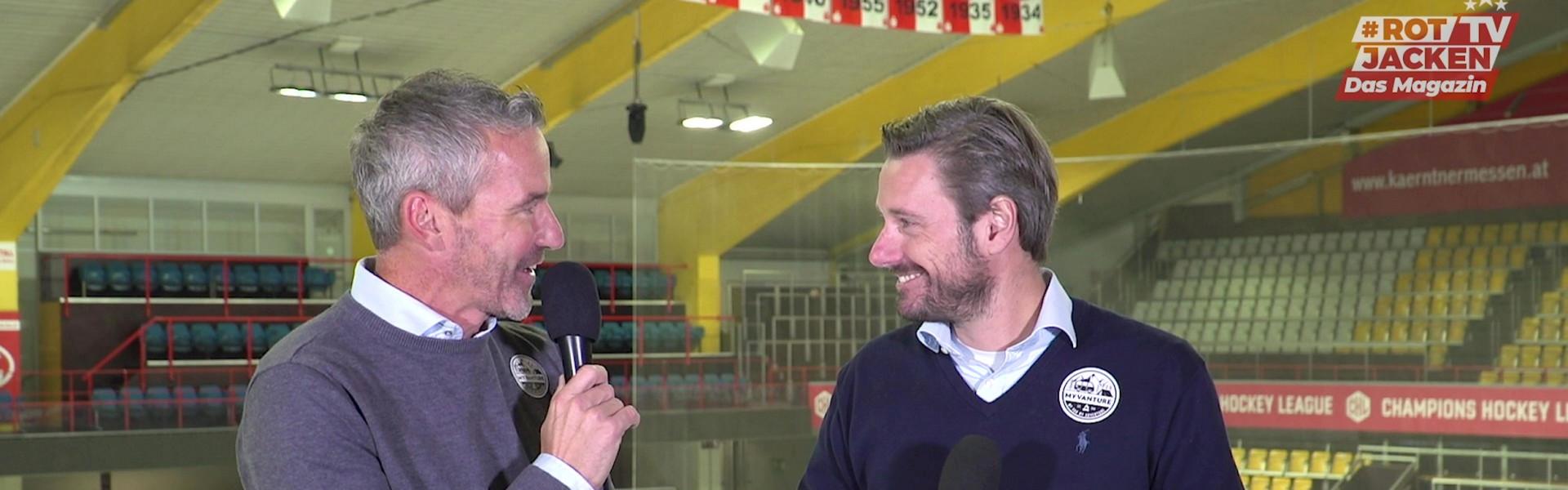 Joschi Peharz und Marc Brabant im Studio von #Rotjacken-TV - Das Magazin