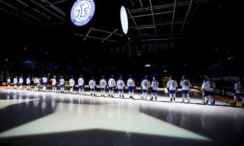 Der Leksands IF in der 7.650 Zuseher fassenden Tegera Arena