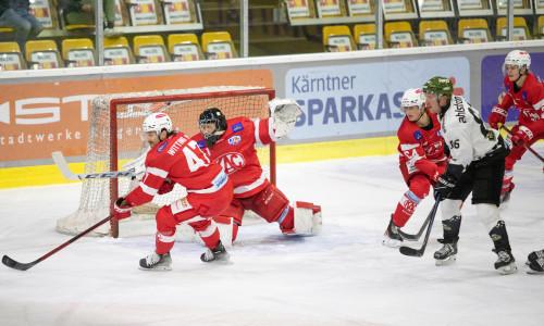 Goalie Val Usnik (KFT) hielt den Heimsieg gegen den HC Meran/o fest