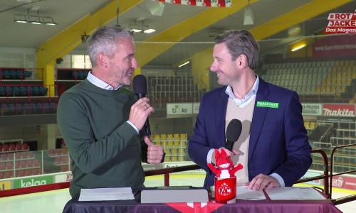 Joschi Peharz und Marc Brabant im Studio von #Rotjacken-TV